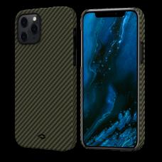 Чехол Pitaka для iPhone 12 / 12 Mini / 12 Pro  / 12 ProMax черно-зеленый