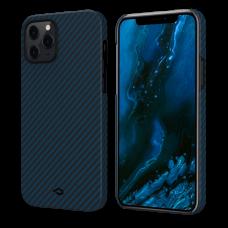 Чехол Pitaka для iPhone 12 / 12 Mini / 12 Pro / 12 ProMax черный-синий